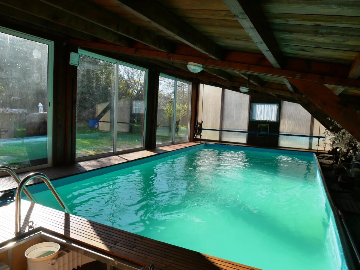 Maison r nov e avec piscine chauff e abafim immobilier - Chambre d hote piscine chauffee ...